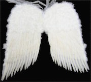 "Angel Wings, 36"" White Feather"