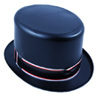 Top Hat, Black Plastic